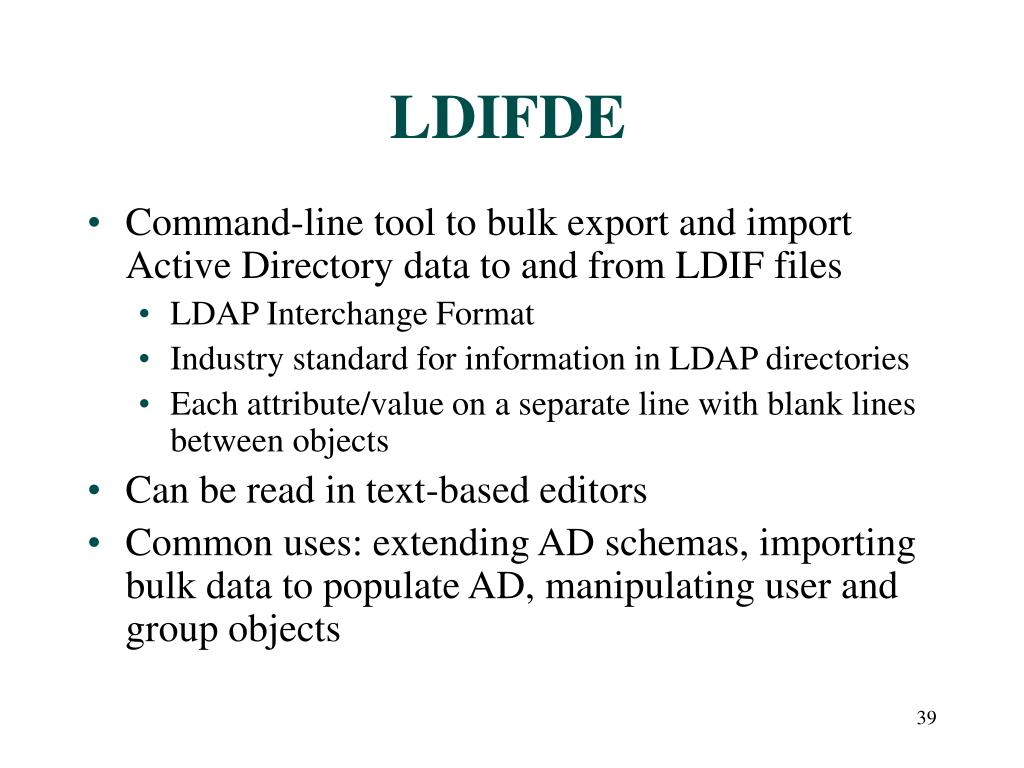 LDIFDE