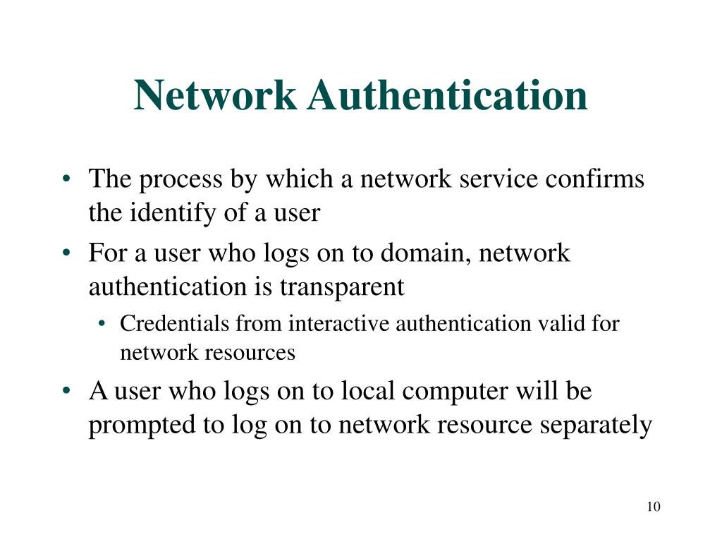 Network Authentication