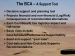 the bca a support tool