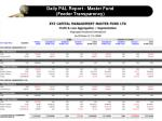 daily p l report master fund feeder transparency