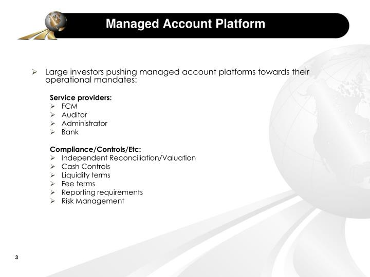 Managed account platform