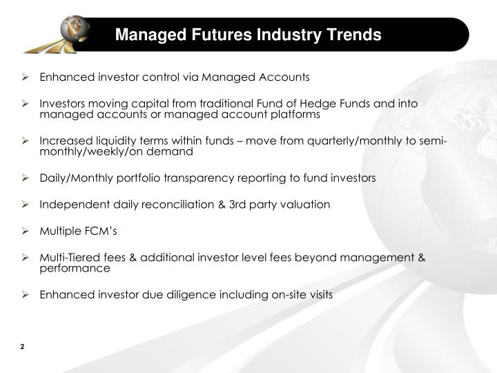 Managed futures industry trends