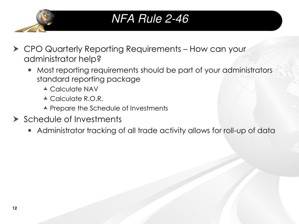 NFA Rule 2-46
