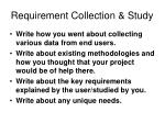 requirement collection study