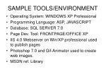 sample tools environment