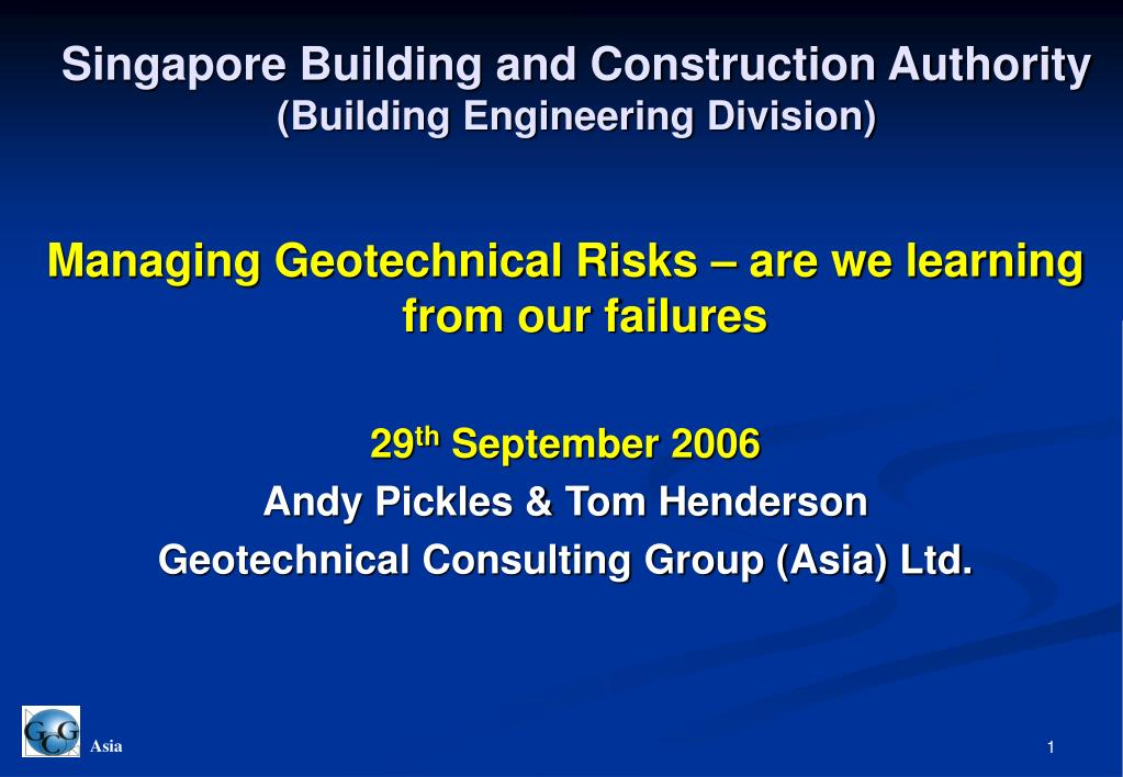 singapore building and construction authority building engineering division l.