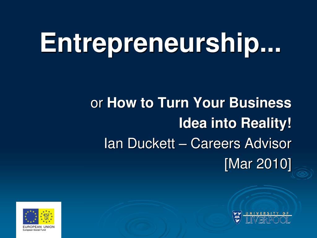 entrepreneurship l.