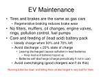 ev maintenance