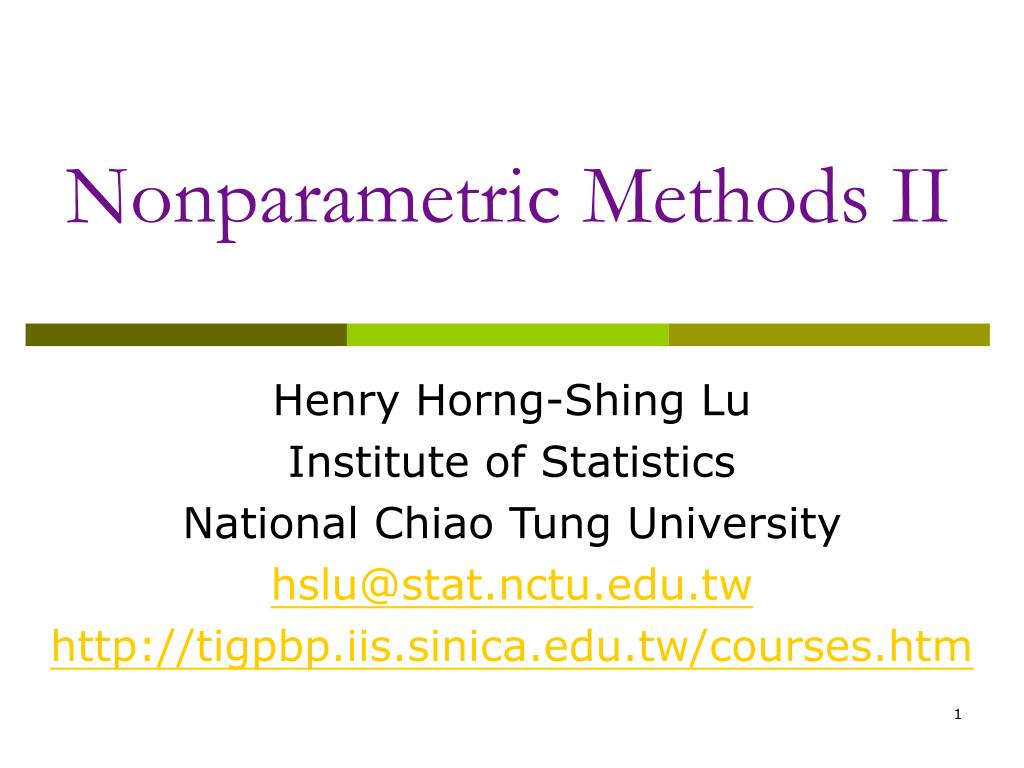 nonparametric methods ii l.