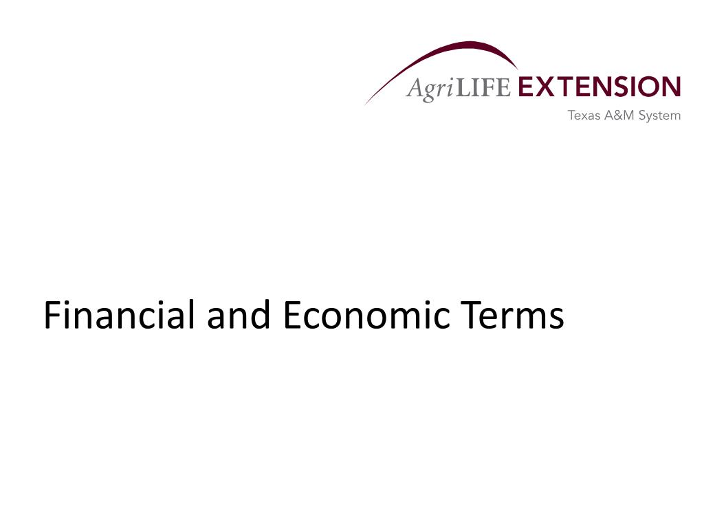 financial and economic terms l.