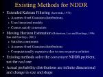 existing methods for nddr