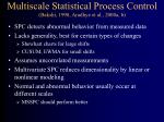 multiscale statistical process control bakshi 1998 aradhye et al 2000a b