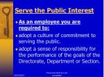 serve the public interest