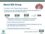 about bsi group