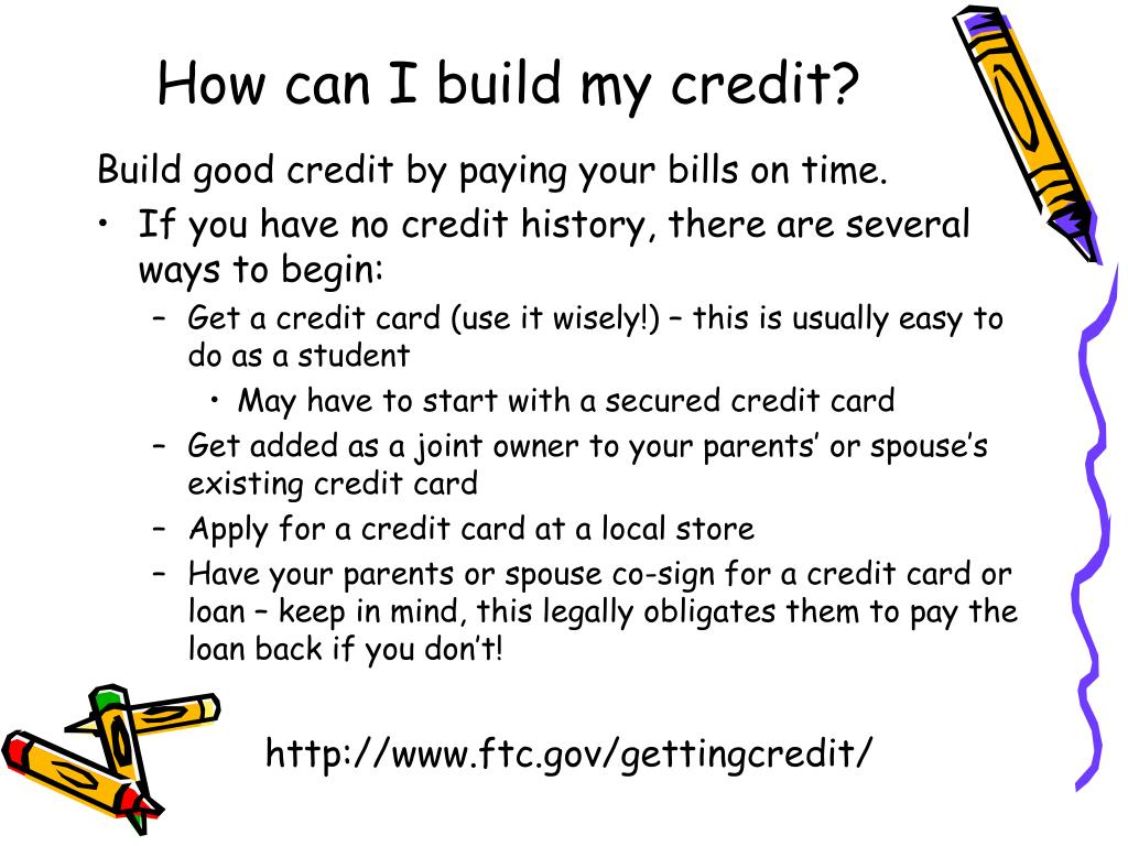 How can I build my credit?