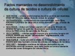 factos marcantes no desenvolvimento da cultura de tecidos e cultura de c lulas