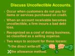 discuss uncollectible accounts