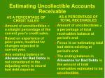 estimating uncollectible accounts receivable30