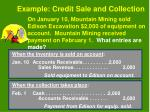 example credit sale and collection