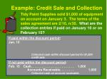 example credit sale and collection15