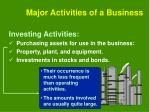 major activities of a business4