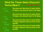what do these sales discount terms mean