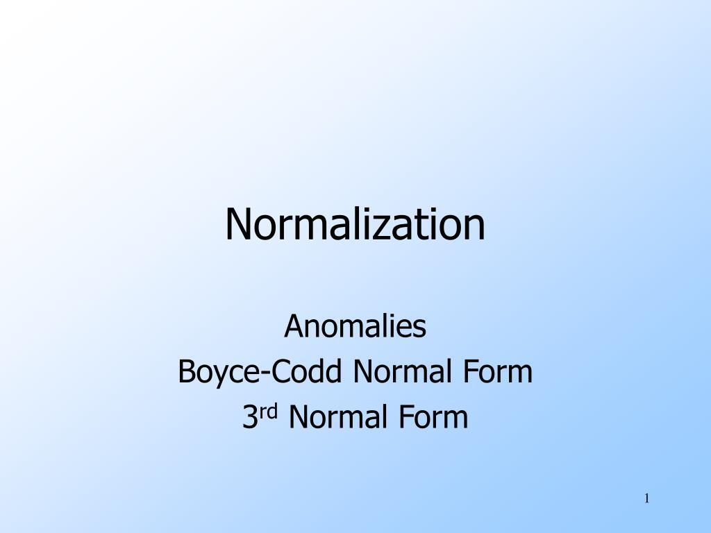 normalization l.