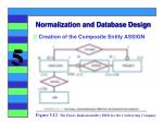normalization and database design27