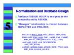 normalization and database design28