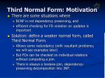 third normal form motivation