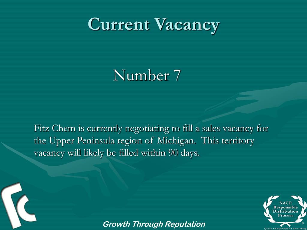 Current Vacancy