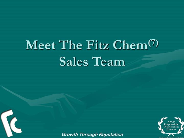 Meet the fitz chem 7 sales team
