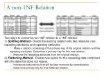 a non 1nf relation