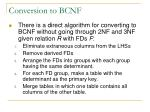 conversion to bcnf