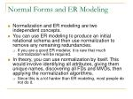 normal forms and er modeling