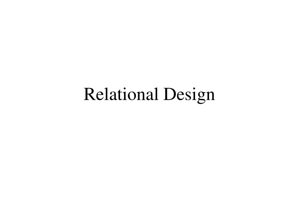 relational design l.