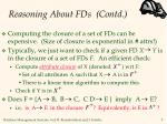 reasoning about fds contd9