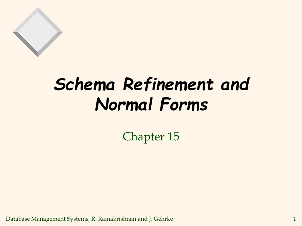 schema refinement and normal forms l.