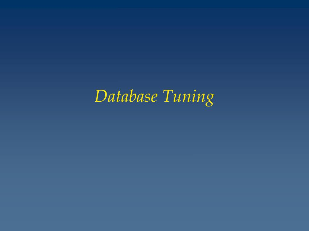 database tuning l.