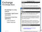 exchange knowledge base