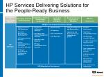 hp services delivering solutions for the people ready business