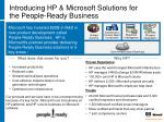 introducing hp microsoft solutions for the people ready business