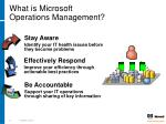 what is microsoft operations management