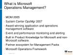 what is microsoft operations management9