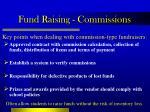 fund raising commissions