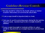 guidelines revenue controls