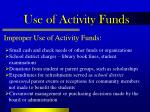 use of activity funds16
