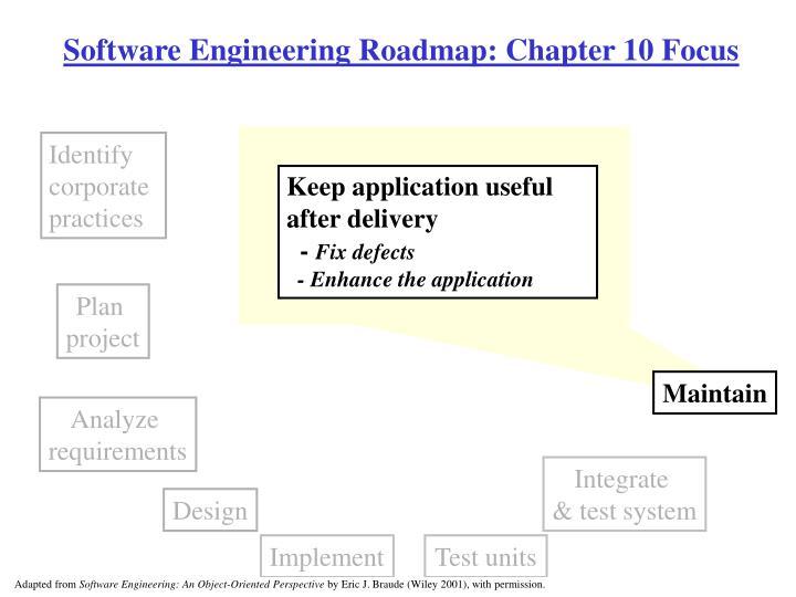 Software engineering roadmap chapter 10 focus