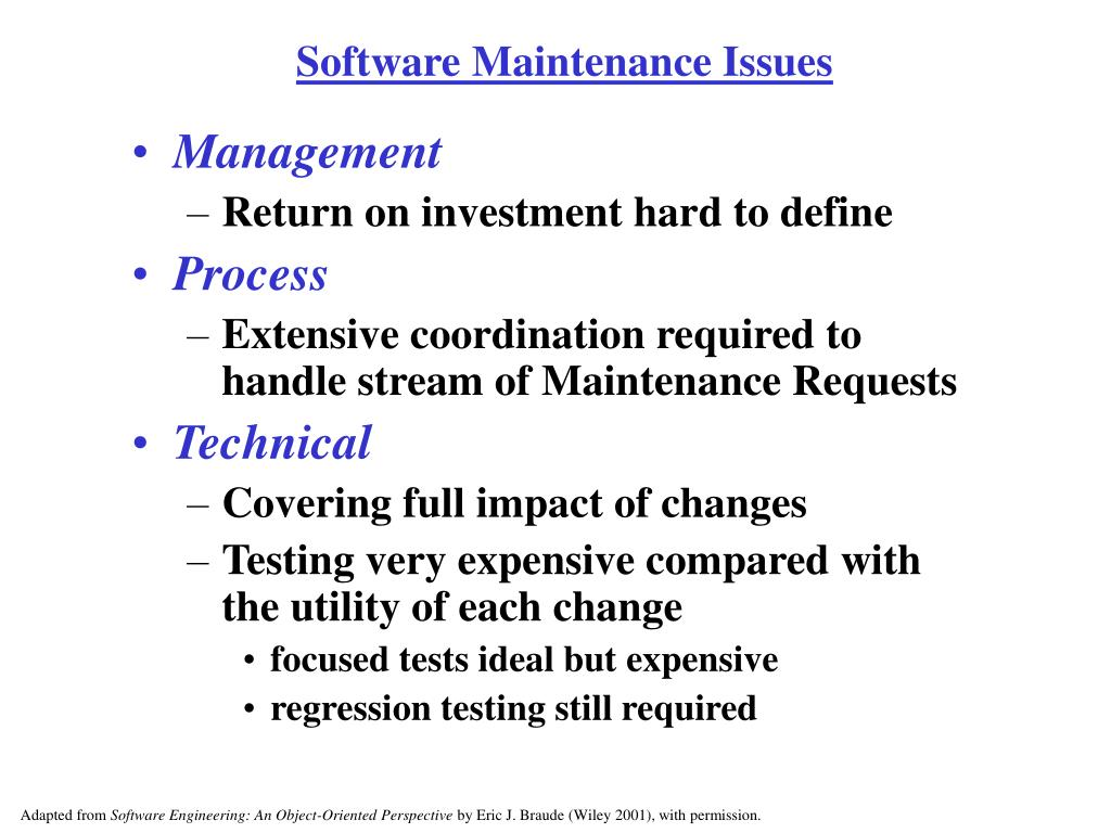 Software Maintenance Issues