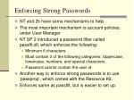 enforcing strong passwords